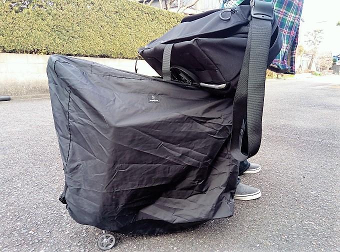 Sバッグと一緒に、引っぱりながら移動
